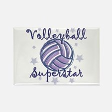 Volleyball Superstar Rectangle Magnet