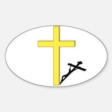 Cross of Christ Oval Decal
