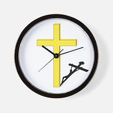 Cross of Christ Wall Clock