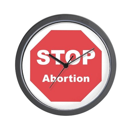 STOP Abortion Wall Clock