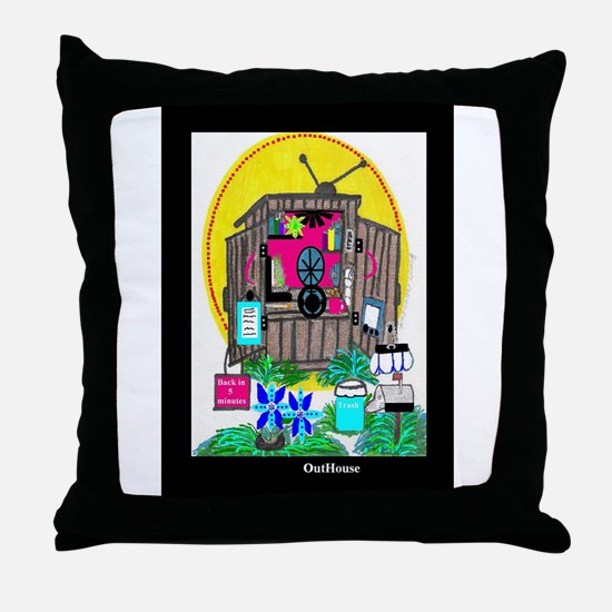 Outhouse Series/Home Office Throw Pillow