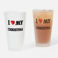 I love my Christina Drinking Glass