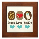 Peace Love Bottle Framed Tile