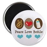 Peace Love Bottle Magnet