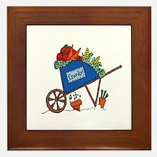 Garden Vegetable Cart Framed Tile