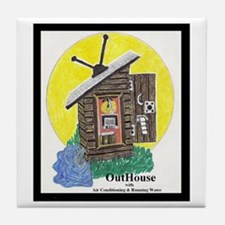 Outhouse/Air/Running Water Tile Coaster