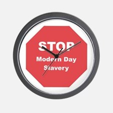 STOP Modern Day Slavery Wall Clock