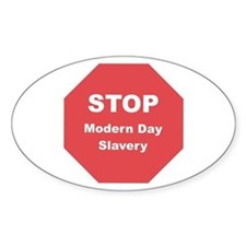 STOP Modern Day Slavery Oval Decal