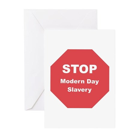 STOP Modern Day Slavery Greeting Cards (Pk of 10)