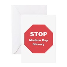 STOP Modern Day Slavery Greeting Card