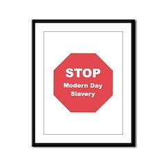 STOP Modern Day Slavery Framed Panel Print