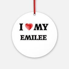 I love my Emilee Round Ornament