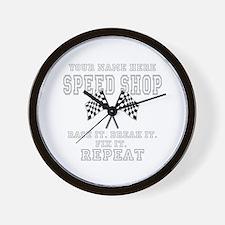 Racing Speed Shop Wall Clock
