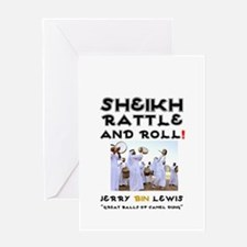 SHEIKH RATTLE & ROLL - SAUDI ARABIA Greeting Cards