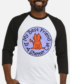 My Best Friend is a Shelter C Baseball Jersey