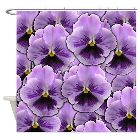 Pansy Patch Shower Curtain by Admin_CP11861778