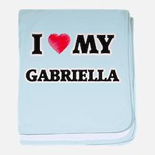 I love my Gabriella baby blanket