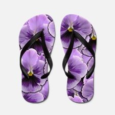 Pansy Patch Flip Flops