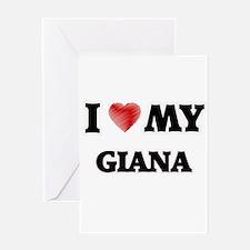 I love my Giana Greeting Cards