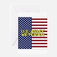 U.S. Army: Veteran (American Flag) Greeting Card
