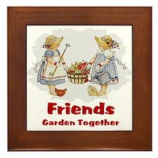 Friends Garden Together Framed Tile