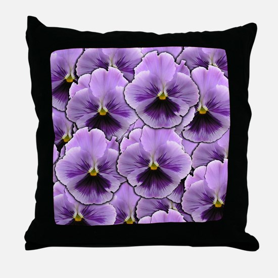 Pansy Patch Throw Pillow