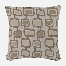 Mid-Century Rectangles Woven Throw Pillow