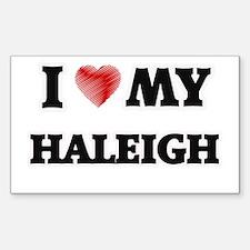I love my Haleigh Decal