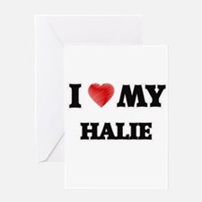 I love my Halie Greeting Cards