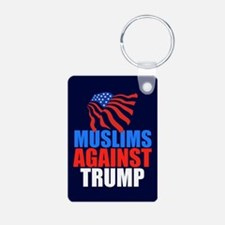 Muslims Against Trump Keychains