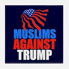 Muslims Against Trump Tile Coaster