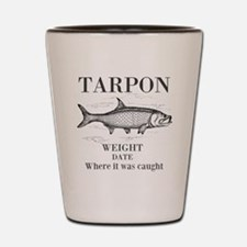 Tarpon fishing Shot Glass