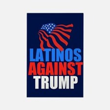 Latinos Against Trump Rectangle Magnet