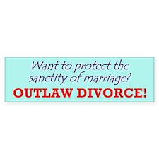 Outlaw divorce!