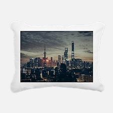 Cute Skyscrapers Rectangular Canvas Pillow