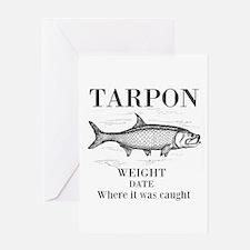 Tarpon fishing Greeting Cards