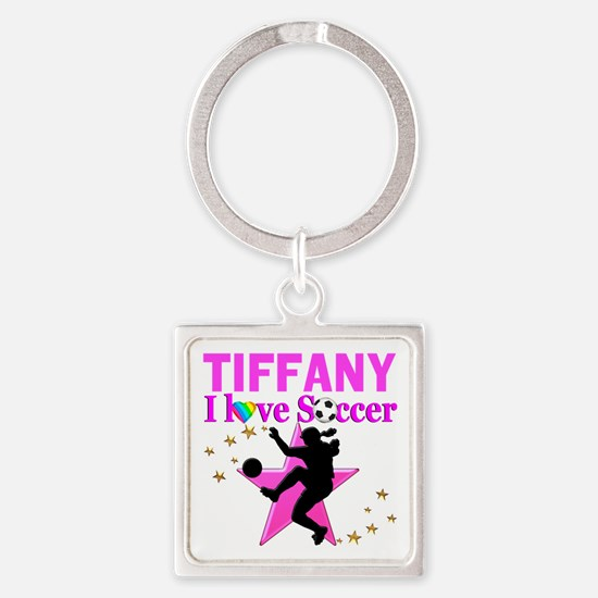 PERSONALIZE SOCCER Square Keychain