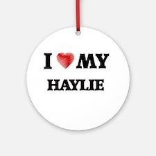 I love my Haylie Round Ornament