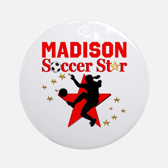 PERSONALIZE SOCCER Round Ornament