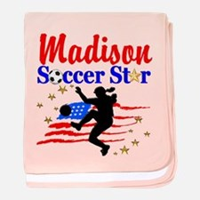 PERSONALIZE SOCCER baby blanket