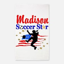 PERSONALIZE SOCCER Area Rug