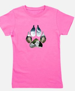 Cool Wolf and moon Girl's Tee