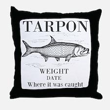 Tarpon fishing Throw Pillow