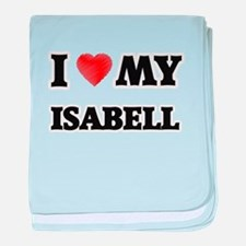 I love my Isabell baby blanket