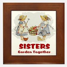 Sisters Garden Together Framed Tile