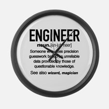 Unique Engineer Large Wall Clock