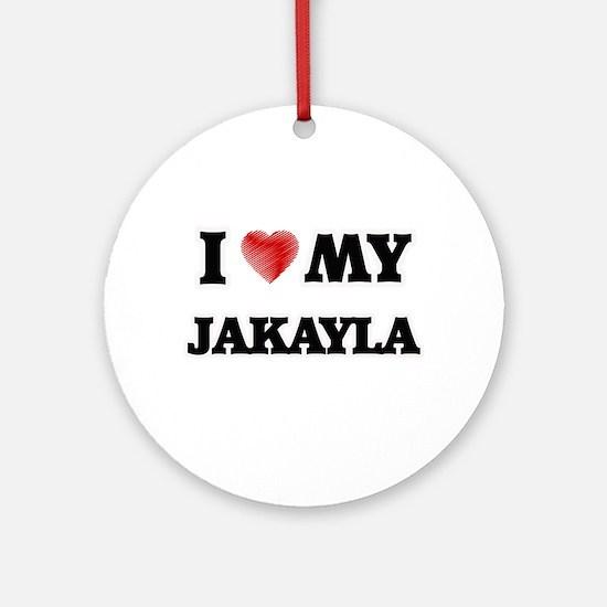 I love my Jakayla Round Ornament