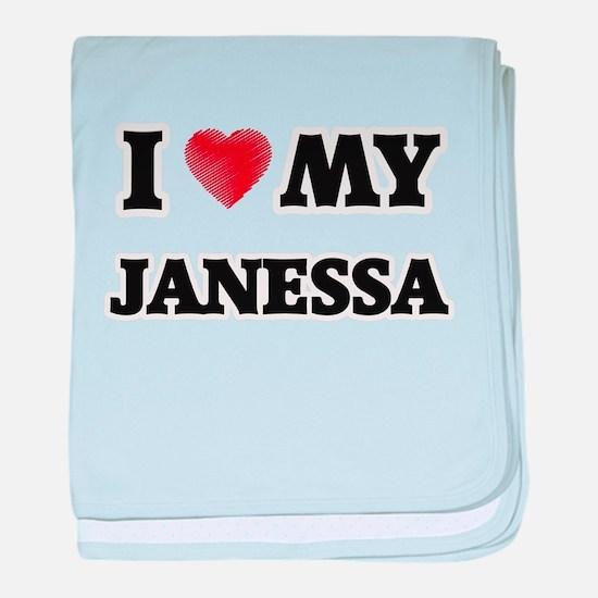 I love my Janessa baby blanket