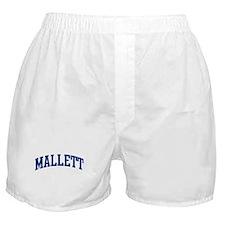 MALLETT design (blue) Boxer Shorts