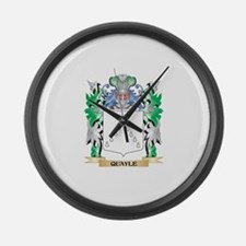 Quayle Coat of Arms - Family Cres Large Wall Clock